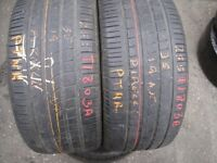 255 35 19 Pirelli,P Zero Rosso, Audi,96Y, x2 A Pair, 5.8mm(450-458 Barking Road,E13 8HJ) Part Worn