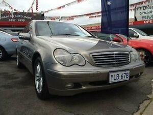 2002 Mercedes-Benz C200 S203 Kompressor Elegance Silver 5 Speed Auto Tipshift Sedan Braddon North Canberra Preview