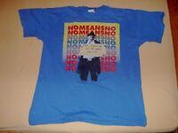 "NoMeansNo ""Worldhood"" vintage & rare T-SHIRT, faded blue, D Kennedys, Punk, Alt Tentacles"