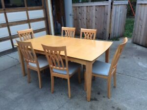Dining Set w 6 Chairs - WILL DELIVER for ask price in Edm/St Alb