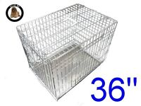 "VGC Ellie Bo 36"" puppy crate in silver. One careful owner!!"