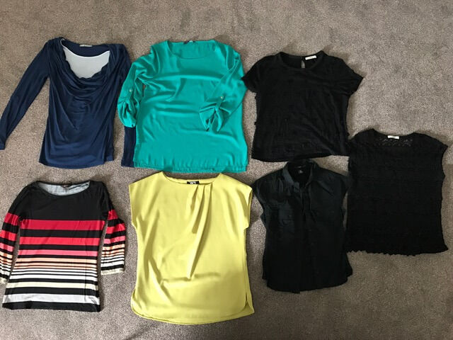 Bundle 7 Ladies tops (used) Phase Eight, Wallis, M&S x 2, Oasis x 2, H&M (Size 12)