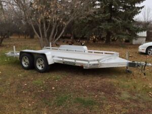 14.5 ft aluma lowboy tandem Aluminum trailer for sale