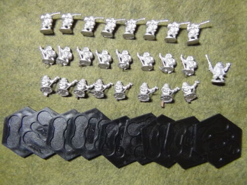Demonworld 15mm Dwarf Hand Gunners Lot Fantasy Hordes of the Things Miniatures