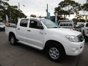 2010 Toyota Hilux KUN26R 09 Upgrade SR (4x4) White 4 Speed Automatic Dual Cab Pick-up Yagoona Bankstown Area Preview
