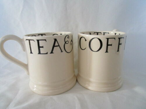 Set of 2 Emma Bridgewater AD 2000 Toast & Marmalade Mugs Cups Coffee Tea England