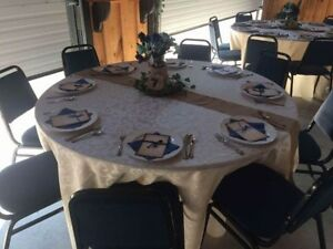 24 ivory round table cloths for sale