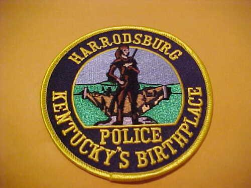 HARRODSBURG KENTUCKY  POLICE PATCH SHOULDER SIZE UNUSED 4 X 4