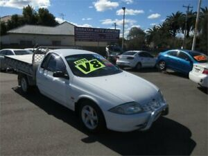 2001 Ford Falcon AUII XLS White 4 Speed Automatic Cab Chassis Waratah Newcastle Area Preview