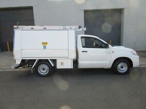 2011 Toyota Hilux KUN16R MY12 SR White 5 Speed Manual 2D CAB CHASSIS Croydon Burwood Area Preview