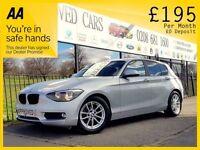 BMW 1 SERIES 2.0 118D SE 5d 141 BHP £0 Deposit, All credi (silver) 2014
