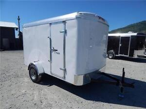NEW 6x10 ROUND TOP ENCLOSED CARGO TRAILER SIDE DOOR
