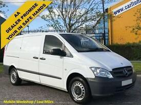 2012 / 61 Mercedes-Vito 113CDI Long [ Low Mileage ] Low Roof Panel Van Twin/SLD