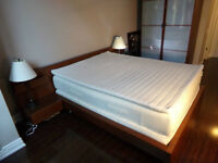 Bedroom set - queen size bed and two side tables