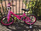 Girl's   Pink Bike     Wheel Size 20      Age 5-8 Years