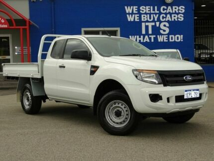 2014 Ford Ranger PX XL Super Cab 4x2 Hi-Rider White 6 Speed Sports Automatic Cab Chassis Welshpool Canning Area Preview