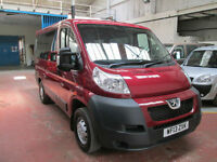 13 PEUGEOT BOXER WHEELCHAIR ADAPTED DISABLED 50 + ADAPTED VEHICLES IN STOCK