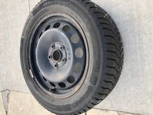 Continental Winter Tires on rims.