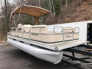 ***SOLD***  2007 18' WEERS PONTOON WITH 4 STROKE 40HP YAMAHA