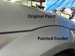 Automotive Repaint For New Replacement Body Panel