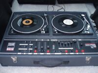 DISCO DECKS ( BUILT IN AMP ) RETRO PRO CONSOLE - VERY GOOD CONDITION