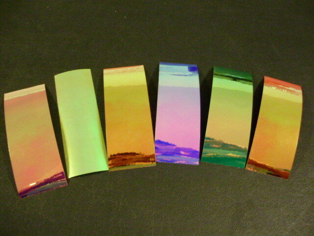 "2/"" x 6/"" 10PK Flasher//Dodger//Reflective Cracked Ice Holographic Fishing Lure Tape"