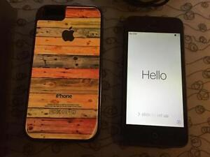 Black iPhone 5 16GB w/case & charger