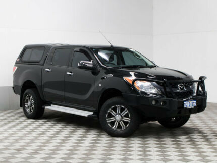 2013 Mazda BT-50 MY13 XTR (4x4) Black 6 Speed Automatic Dual Cab Utility Morley Bayswater Area Preview