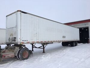 2003 Great Dane 53' tandem insulated storage trailers.