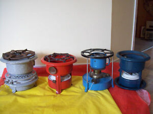 4 Antique CAMP STOVES- * SEE EACH PRICE *