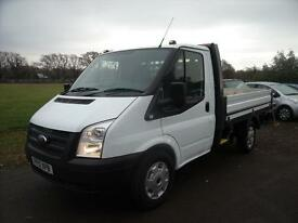 FORD TRANSIT DROPSIDE 100 T300 SRW, White, Manual, Diesel, 2012