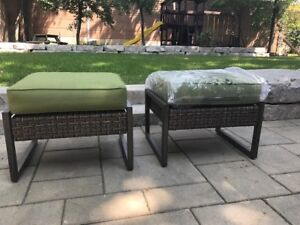 **NEW ** Pair -  Outdoor Ottoman / Cushioned Bench