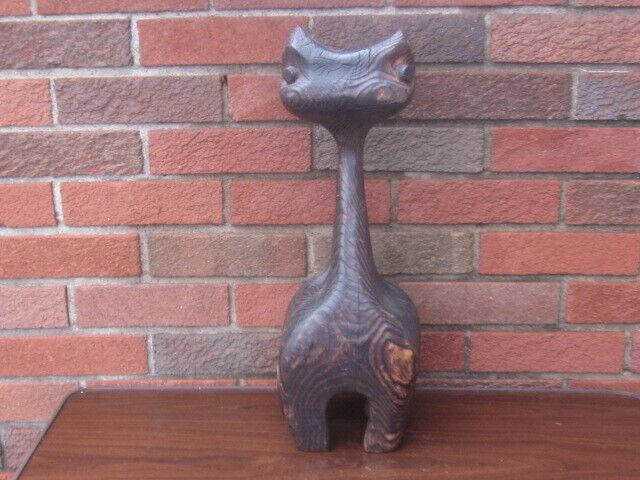 Vintage MCM Witco Tiki Cat Sculpture LARGE! NICE ONE!