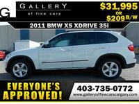 2011 BMW X5 xDrive35i $209 bi-weekly APPLY NOW DRIVE NOW