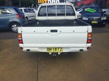 1999 Mitsubishi Triton MK GLX White 5 Speed Manual Dual Cab Utility Wickham Newcastle Area Preview