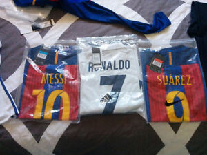 Selling Barcelona and Real Madrid Soccer Jersey's