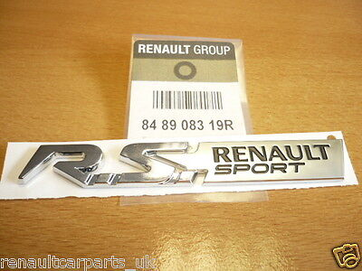 Renault Sport Badge / Decal  Clio Megane Twingo RS 848908319R