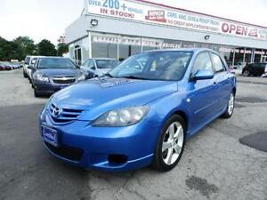 2006 Mazda Mazda3 GT SUNROOF LEATHER SEATS CERTIFIED E-TESTED