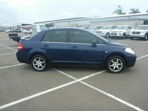 2009 Nissan Tiida C11 MY07 ST Blue 6 Speed Manual Sedan Vincent Townsville City Preview