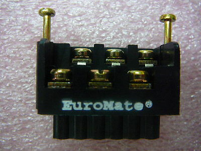 Euromate Pluggable Pcb Terminal Block Dual Level Wretention Screws 6 Circuits