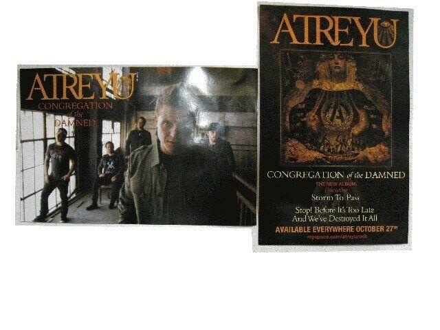 Atreyu Poster Promo Congregation Of The Damned