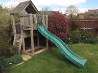 Jungle Gym wooden climbing frame and slide