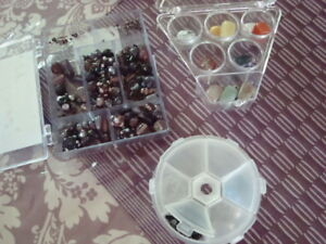 Variety of beads and accessories