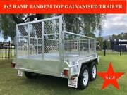 8x5 RAMP TANDEM GALVANISED TRAILER, ATM 2000KG, Inc GST Altona Hobsons Bay Area Preview
