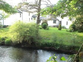 Amazing large 1 Bed Flat, with waterwheel, in converted Mill: Dunsford, 6 miles West of Exeter