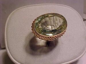 #949-15K ROSE GOLD-HALLMARKED-22.4 carat VS PERIDOT-ESTATE PIECE STUNNING-APPRAISED $3,400.00-EBANK TRANSFER-FREE S/H