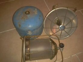 Camping Gaz Parabolic heater, lantern, Gas bottle 3/4 full