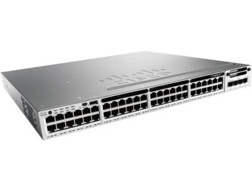 Used Cisco Ws-c3850-48t-s 48 Port 350wac Power Ip Base Switch