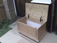 Large tough Wooden Storage Box - Heathrow
