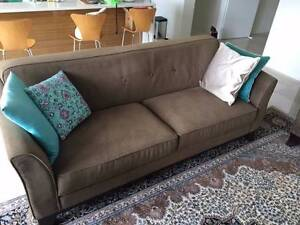 3-seater and 2 x 1 seater lounge suite sofa Mosman Mosman Area Preview